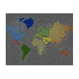World peace smiley face world map mosaic poster by paul van scott id like to teach the world to sing world map poster by paul van gumiabroncs Choice Image