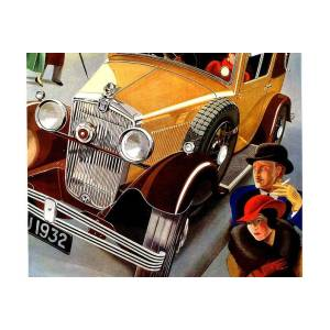 Morris Major 6 Automobile Car Advertisement Art Poster