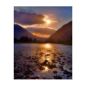 Tree River Lake Nature Landscape Sun Postereck-Poster 1864-Sunset