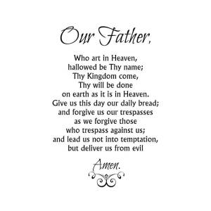 Our Father Prayer Catholic Lord S Prayer Poster By Classically Printed