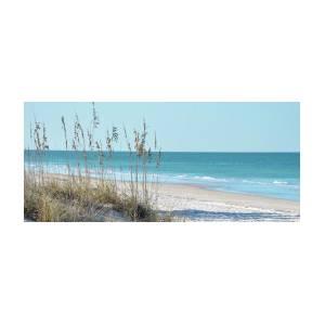 a8ec0d8f9c8 Serene Beach Sea Oats Panoramic Art Print by Rebecca Brittain