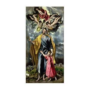 """ART PRINT POSTER 14/"""" X 11/"""" EL GRECO 741 1597-99 SAINT MARTIN AND THE BEGGER"""
