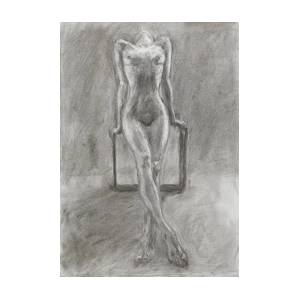 Poor Woman Praying Pencil Sketch Art Print By Dan Comaniciu