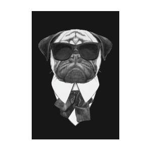 Pug Dog With Sunglasses Art Print By Marco Sousa