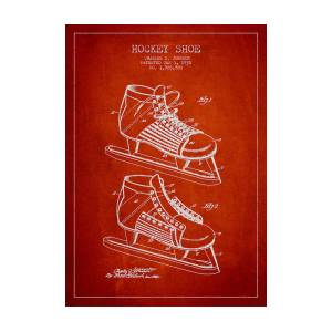 82ba09ab161d5 Vintage Hockey Shoe Patent Drawing From 1935 Art Print by Aged Pixel