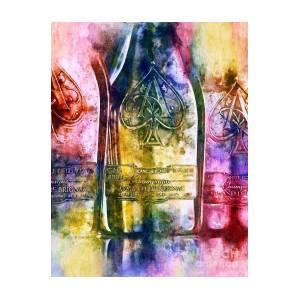 Ace Of Spades Champagne Art Print by Jon Neidert