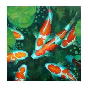 9cddde516e14 Auspicious Koi Pond 12 Art Print by Edoen Kang