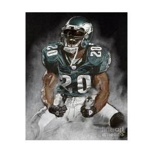Philadelphia Eagles Brian Dawkins The Legend Art Print by Jordan Spector 6386a54b1