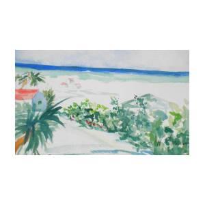 c79b03ac6a My Beach Cottage In Siesta Key Art Print by Jill Morris