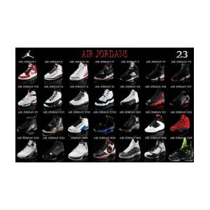 79b5daaad9fe Air Jordan Shoe Gallery Art Print by Brian Reaves