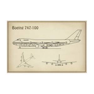 Boeing 747 - 100 - Airplane Blueprint  Drawing Plans Or