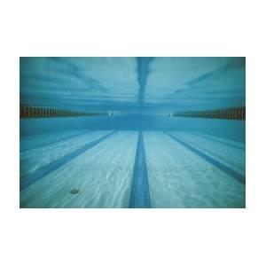 Underwater View In A Swimming Pool Art Print by Tim Laman