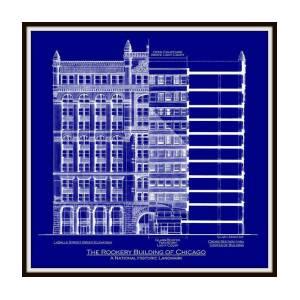 Rialto bridge venice blueprint art print by gene nelson rookery building chicago blueprint art print by gene nelson malvernweather Images