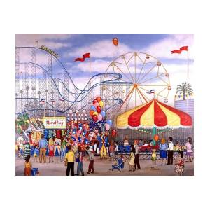 12 PRINTED Carousel Carnival Fair Invitations ~ Style #2