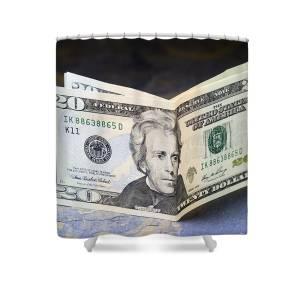 Twenty Dollar Bills Us Paper Currency 5 Shower Curtain for