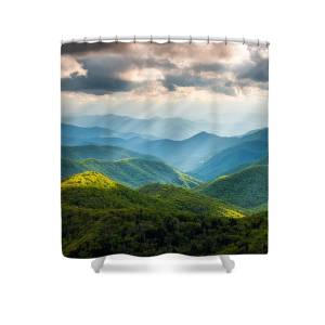 Men/'s Shower Curtain National Parks Bathroom Decor Smokey Mountain Cliff Home