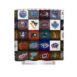 Time To Lace Up The Skates Recycled Vintage Hockey League Team Logos License Plate Art Shower