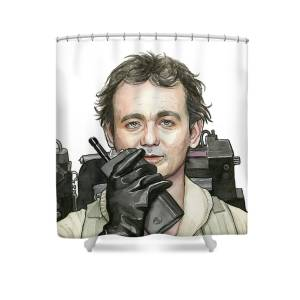 Bill Murray Ghostbusters Peter Venkman Shower Curtain For Sale By Olga Shvartsur