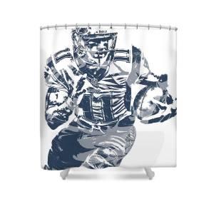 Julian Edelman New England Patriots Pixel Art 13 Shower Curtain For Sale By Joe Hamilton