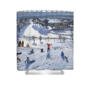 Winter Fun Shower Curtain For Sale By Andrew Macara