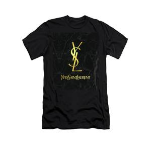 03a59637 Yves Saint Laurent - Ysl - Black And Gold - Lifestyle And Fashion T-Shirt