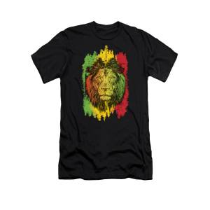 African map colourfull   Lion Totem Art Boys Girls Birthday gift Top T shirt 018