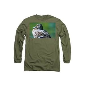 6cf614bd869c0 Resting Duck Hen Long Sleeve T-Shirt for Sale by Optical Playground By MP  Ray