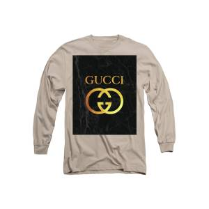 758cec39 Gucci - Black And Gold - Lifestyle And Fashion Long Sleeve T-Shirt for Sale