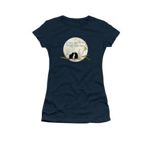 254a60e97 Love You To The Moon And Back Women's T-Shirt for Sale by Linda Lees