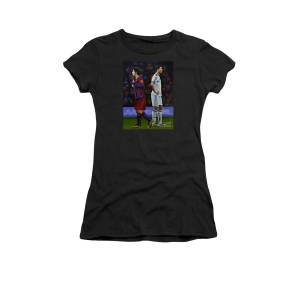 f47f71017 Lionel Messi And Cristiano Ronaldo Women's T-Shirt for Sale by Paul  Meijering