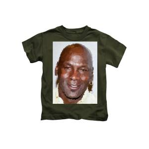 b7661d01d560ca Michael Jordan - Cross Hatching Kids T-Shirt for Sale by Samuel Majcen