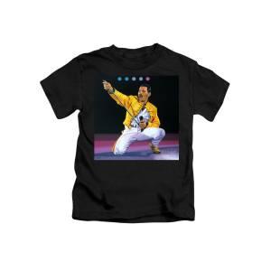 e30cd1f4bbd Freddie Mercury Live Kids T-Shirt for Sale by Paul Meijering
