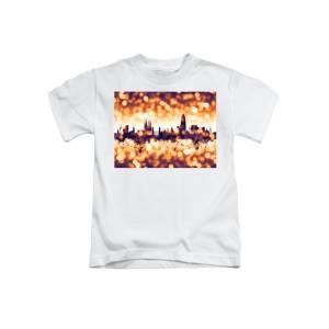 9031de11a Barcelona Spain Skyline Panoramic Kids T-Shirt for Sale by Michael ...