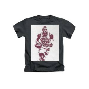 d80094a68 Lebron James Cleveland Cavaliers Pixel Art 4 Kids T-Shirt for Sale by Joe  Hamilton