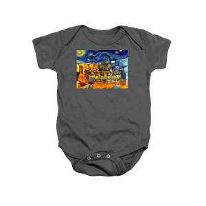 b1e820c08 Starry Starry Wine Room Onesie for Sale by Barry Moore · First Mcdonalds  Onesie for Sale by Barry Moore · Peace Love Rock N Roll ...