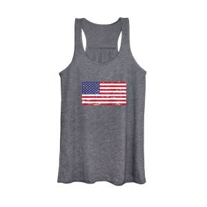 4th of July American Vintage Flag USA Distressed Tank Top USA Women Vest