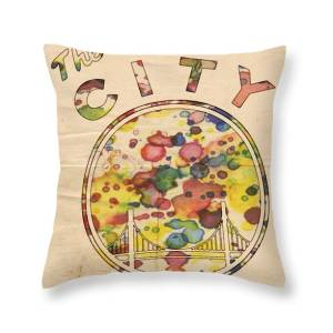 9082446f97785 Golden State Warriors Retro Art Throw Pillow for Sale by Florian Rodarte
