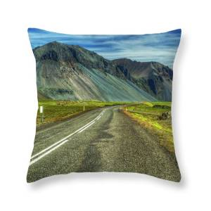 Road To Seyoisfjorour East Fjords Iceland Throw Pillow For Sale By Mike Deutsch