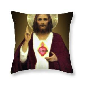 The Holy Face Of Jesus Throw Pillow For Sale By Samuel Epperly