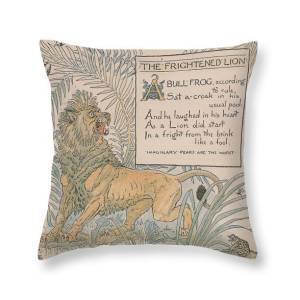 Aesops Fables The Lion In Love Throw Pillow For Sale By Victorian Illustrator