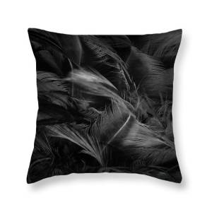 Black And White Feather Texture Background Throw Pillow For Sale By Nattaya Mahaum