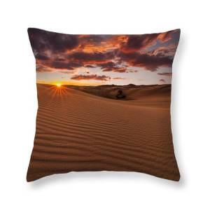 Amazing Views Of The Sahara Desert Under The Night Starry Sky Throw Pillow For Sale By Anton Petrus