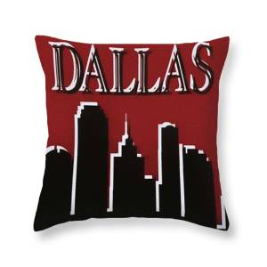 colorful dallas skyline silhouette throw pillow for sale by dan sproul