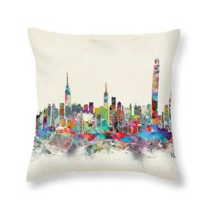 Manchester England Skyline Throw Pillow For Sale By Bri Buckley