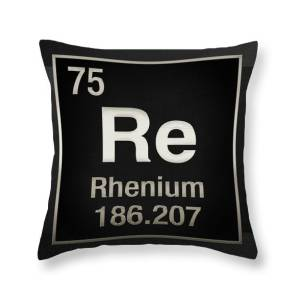 Periodic Table Of Elements Gold Au Throw Pillow For Sale By Serge Averbukh