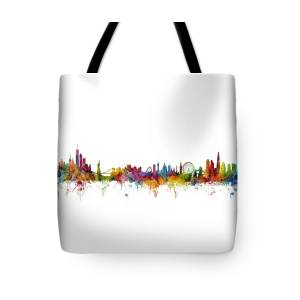 3a3b025c9187 London England Skyline Panoramic Tote Bag for Sale by Michael Tompsett