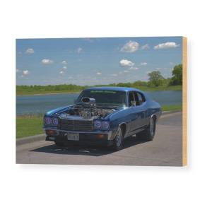 1970 Chevelle Funny Car Dragster Wood Print by Tim McCullough