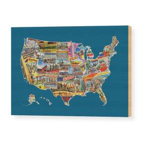 Postcards Of The United States Vintage Usa Lower 48 Map Choose Your ...