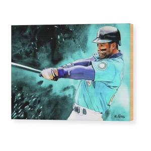 509f04df7e Ken Griffey Jr - Seattle Mariners By Michael Pattison Wood Print by Michael  Pattison