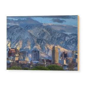 Salt Lake City Utah Usa Wood Print By Douglas Pulsipher